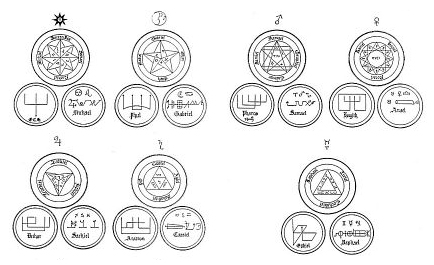 Seals of the Seven Traditional Archangels / Angels